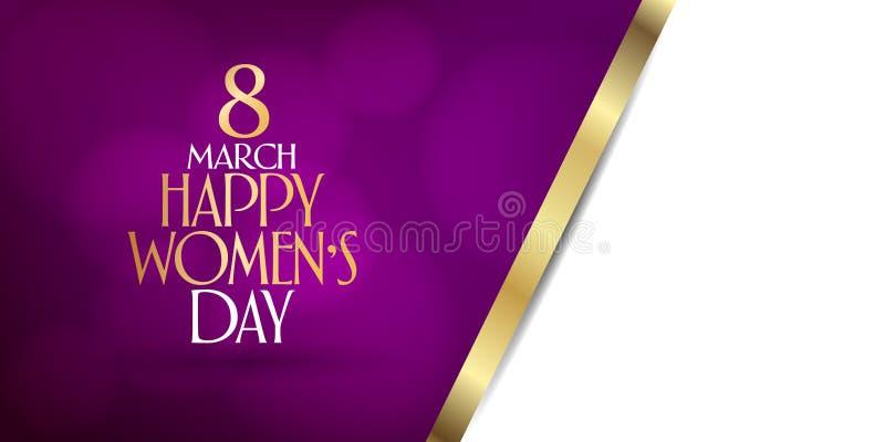 8-ое марта Торжество дня международных счастливых женщин Афиша, плакат, социальные средства массовой информации, рассказ, желает  иллюстрация вектора