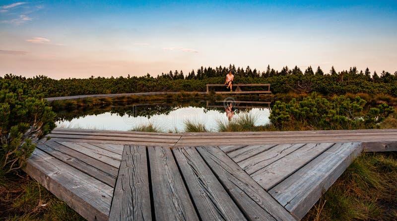 Озера Lovrenska - Словения стоковое фото rf