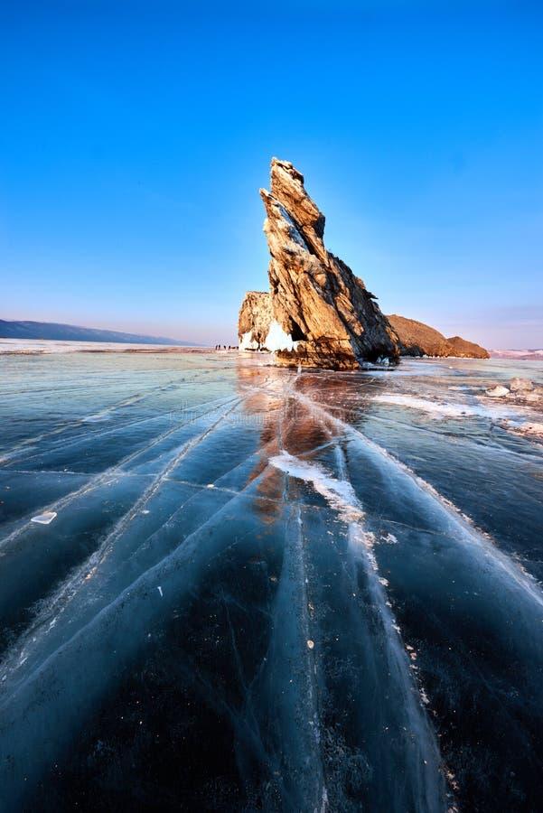 Baikal Lake in winter royalty free stock photography