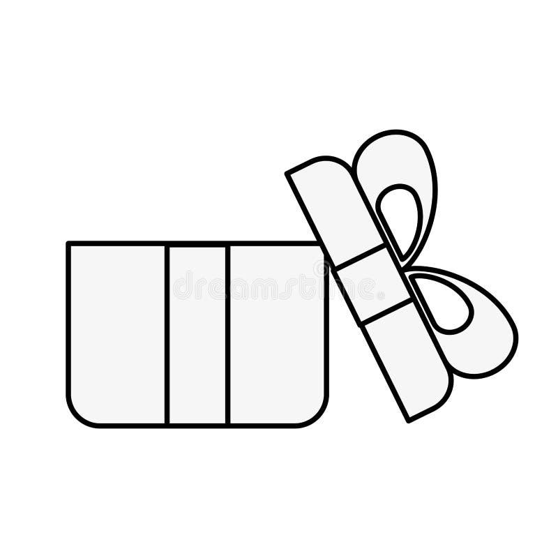 Онлайн ходя по магазинам открытая концепция подарочной коробки бесплатная иллюстрация