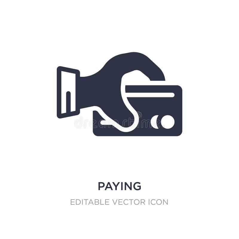 оплачивать значок на белой предпосылке Простая иллюстрация элемента от концепции коммерции бесплатная иллюстрация