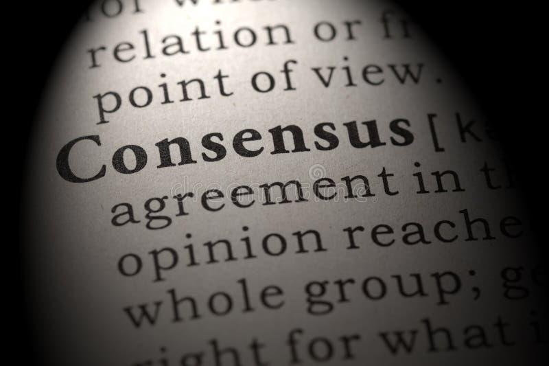 Определение консенсуса стоковая фотография
