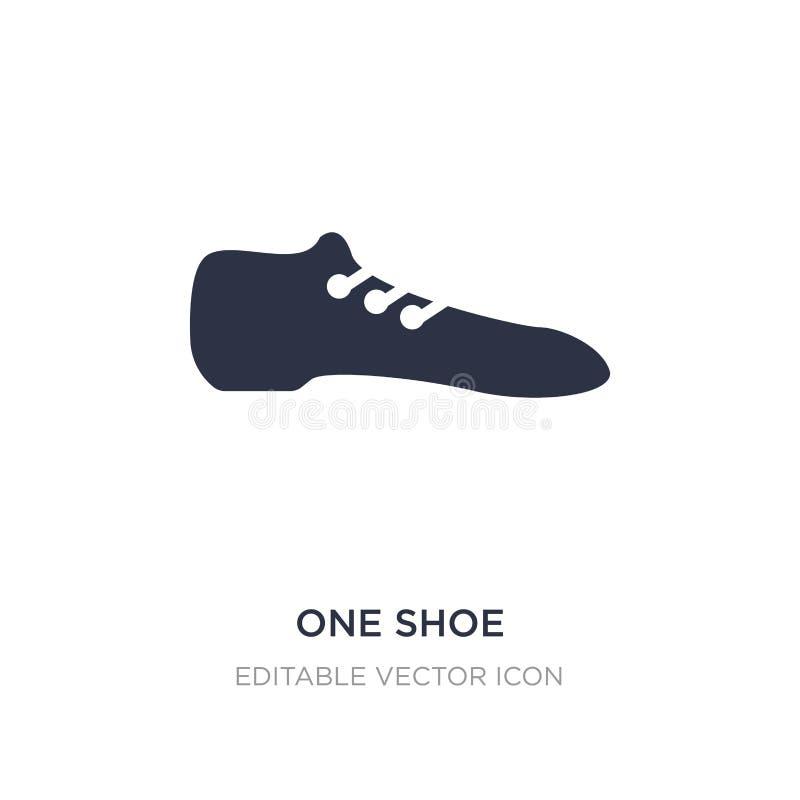 один значок ботинка на белой предпосылке Простая иллюстрация элемента от концепции моды иллюстрация штока