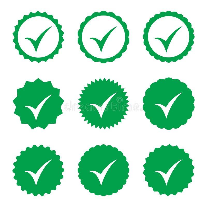 одобренная икона Проверка профиля Признавайте значок Качественный значок представленное изображение контрольной пометки 3d Стикер бесплатная иллюстрация