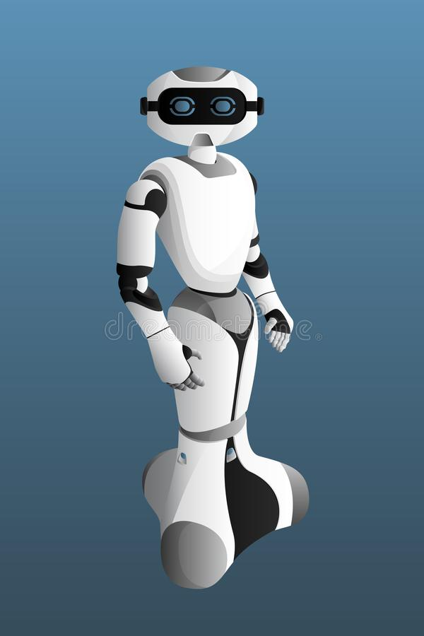 Realistic modern robot. stock illustration