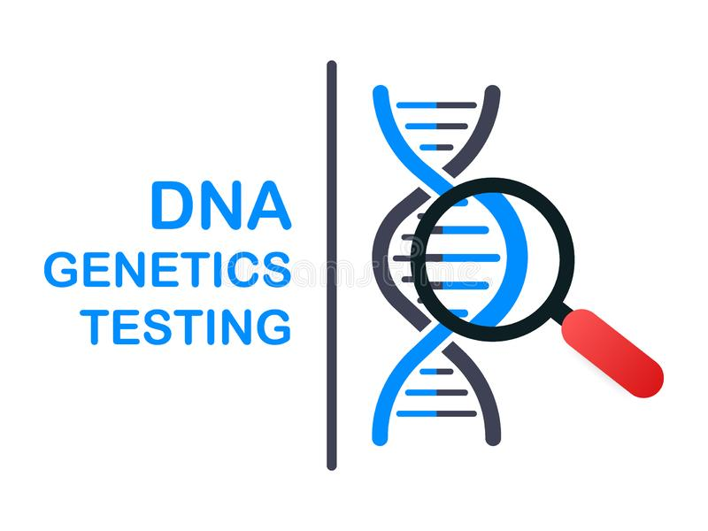 DNA testing, genetic diagnosis concept. Genetic engineering concept. Can use for web banner. Deoxyribonucleic acid. vector illustration