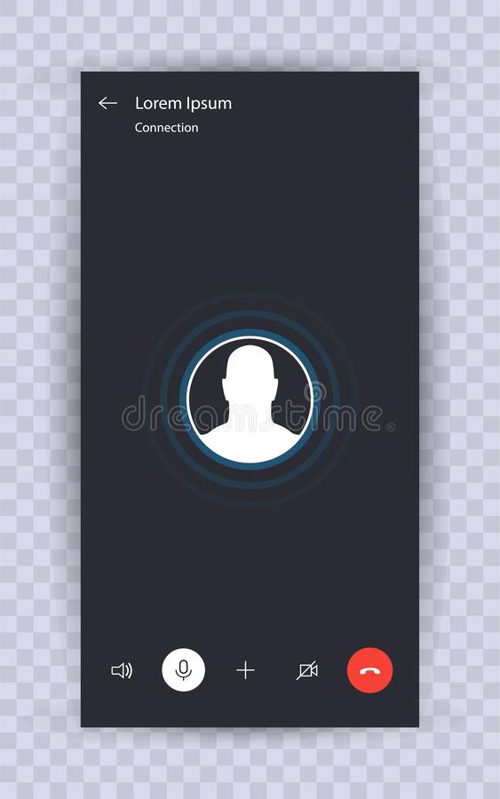 Skype call screen template royalty free illustration