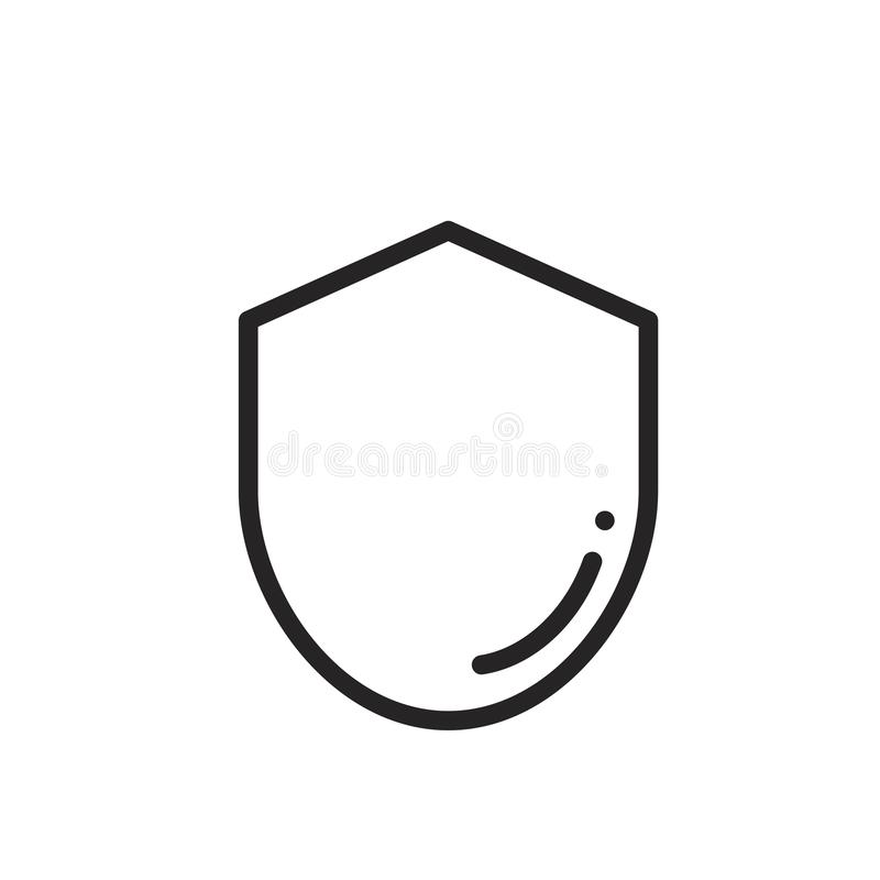 Shield icon vector royalty free illustration