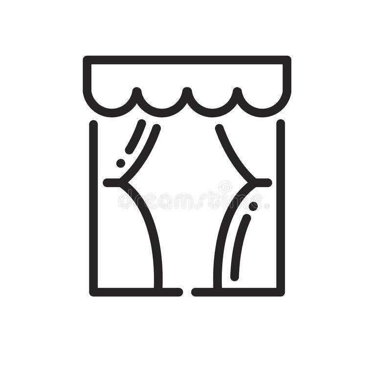 Window linear icon royalty free illustration