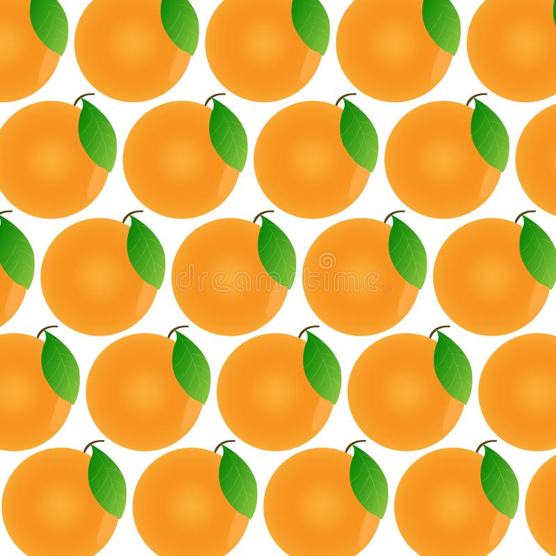 Oranges on a white background. Fruit pattern with isolated oranges. Oranges on a white background. Fruit pattern with isolated oranges vector illustration