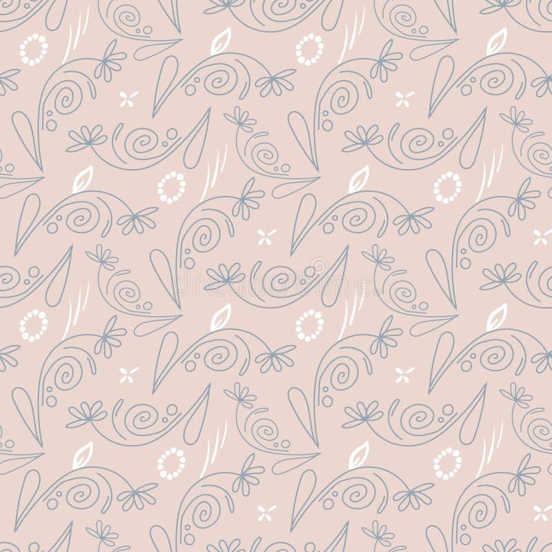 Gentle seamless pattern. stock illustration