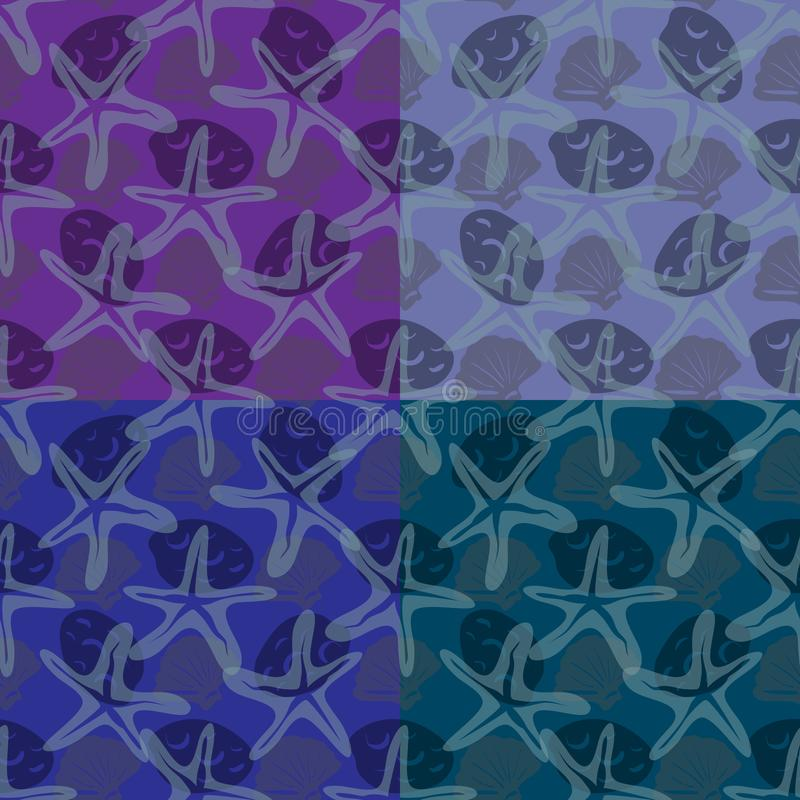 Set of four patterns. royalty free illustration
