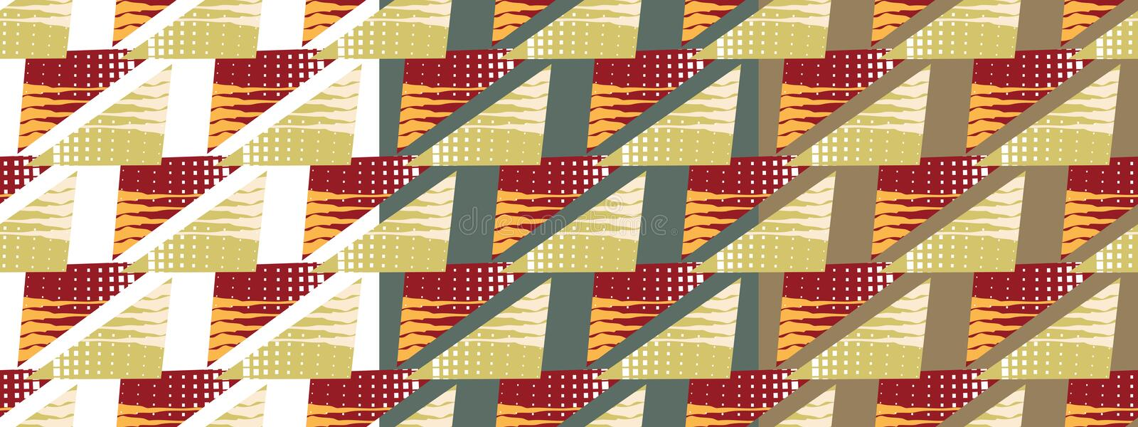 Bright pattern made of triangles. royalty free illustration