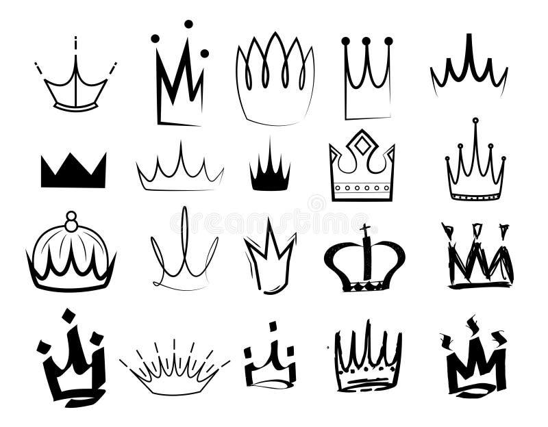 Sketch crown vector illustration