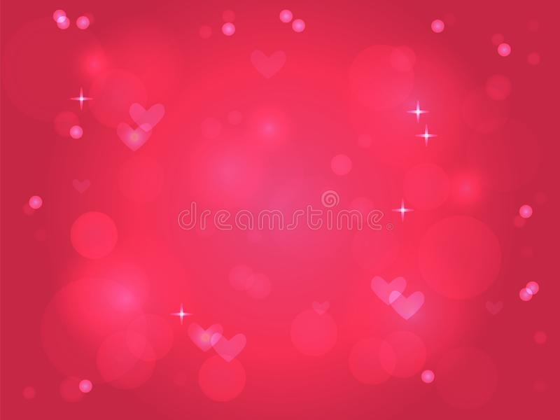 Pink light background for Valentines day vector illustration