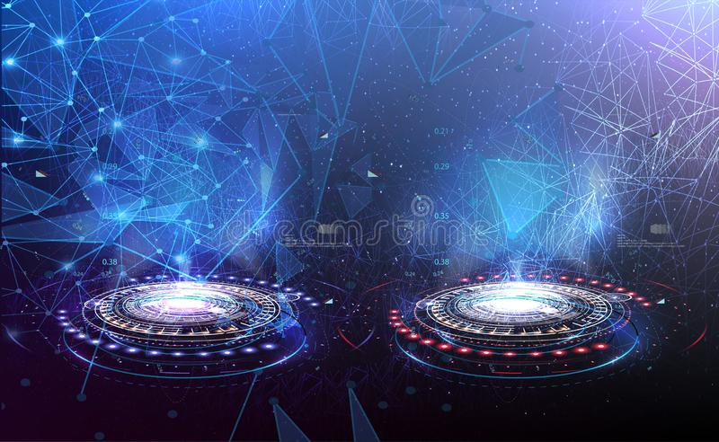 RGBVS Versus Blue and red Futuristic design. VS Versus Blue and red Futuristic design. Battle headline template. Futuristic abstract technology background vector illustration
