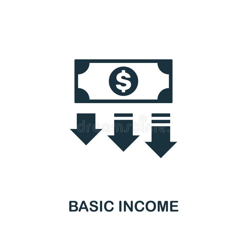 Основной значок дохода Творческий дизайн элемента от собрания значков технологии fintech Значок дохода пиксела идеальный основной иллюстрация вектора