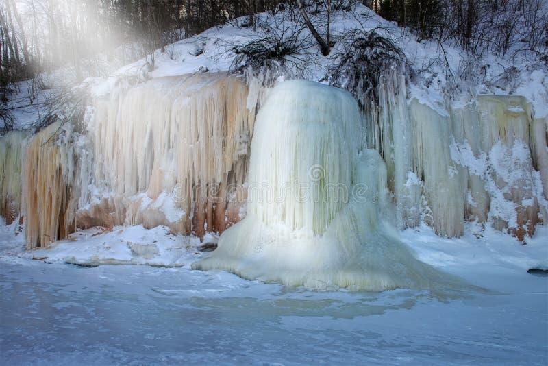 Острова апостола морозят пещеры, зиму, перемещение Висконсин стоковая фотография