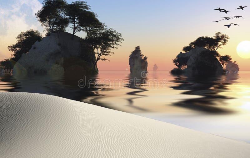 Острова иллюстрация штока