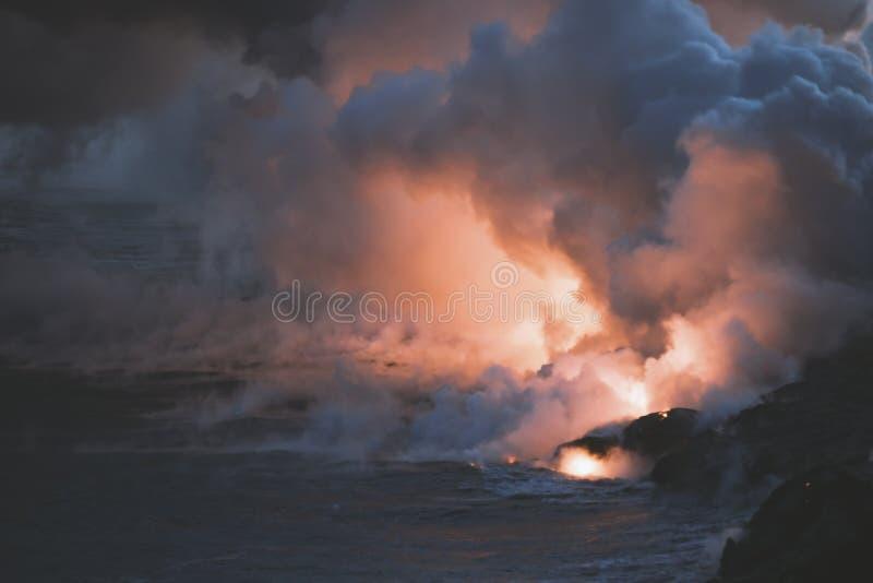Остров США Гаваи большой, волшебное scenics пляжей, заходы солнца, вулканы, утесы, фотография изящного искусства стоковое фото