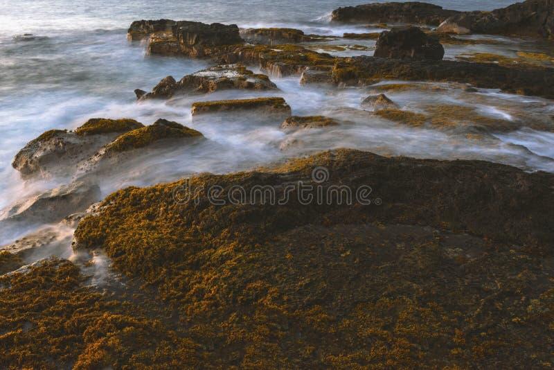 Остров США Гаваи большой, волшебное scenics пляжей, заходы солнца, вулканы, утесы, фотография изящного искусства стоковое изображение rf