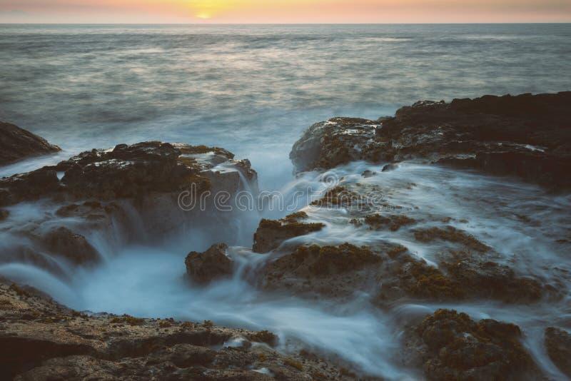 Остров США Гаваи большой, волшебное scenics пляжей, заходы солнца, вулканы, утесы, фотография изящного искусства стоковое фото rf