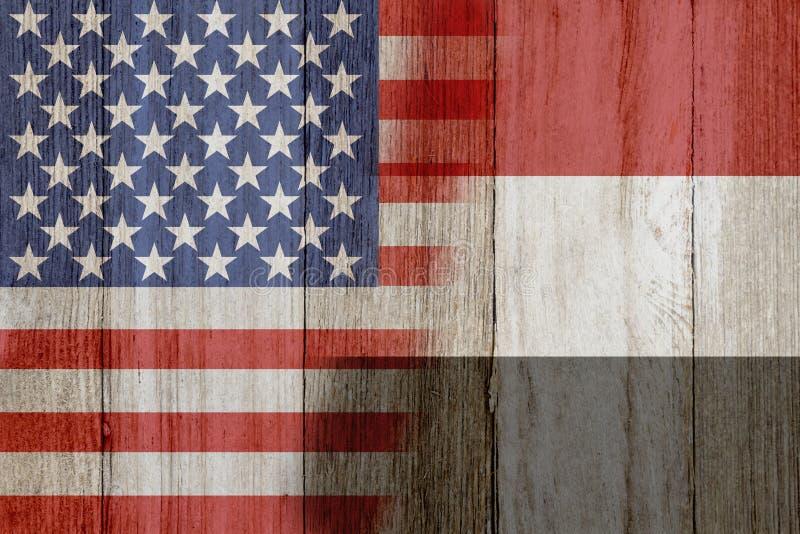 Отношение между США и Йемен иллюстрация штока