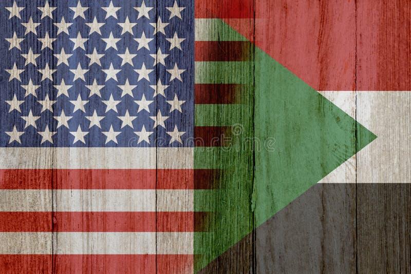 Отношение между США и Суданом иллюстрация вектора