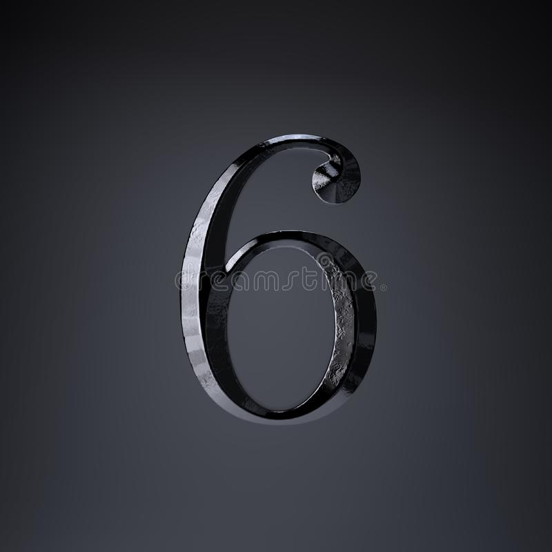 Отделанный утюг 6 3d представляют шрифт названия игры или фильма изолированный на черной предпосылке бесплатная иллюстрация