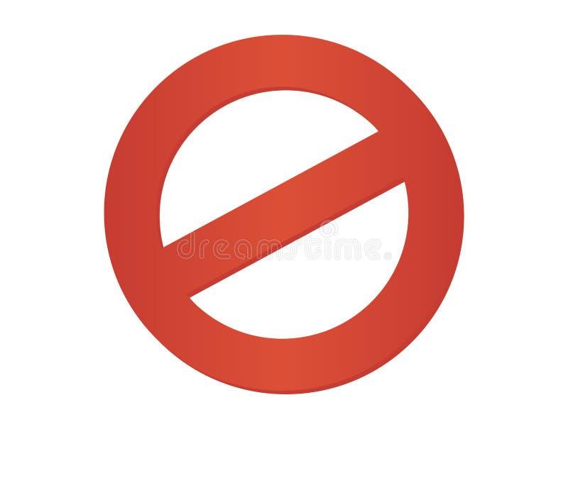 отсутствие знака стоянкы автомобилей Стоп не вписывает значок вектора Значок ограничения иллюстрация штока