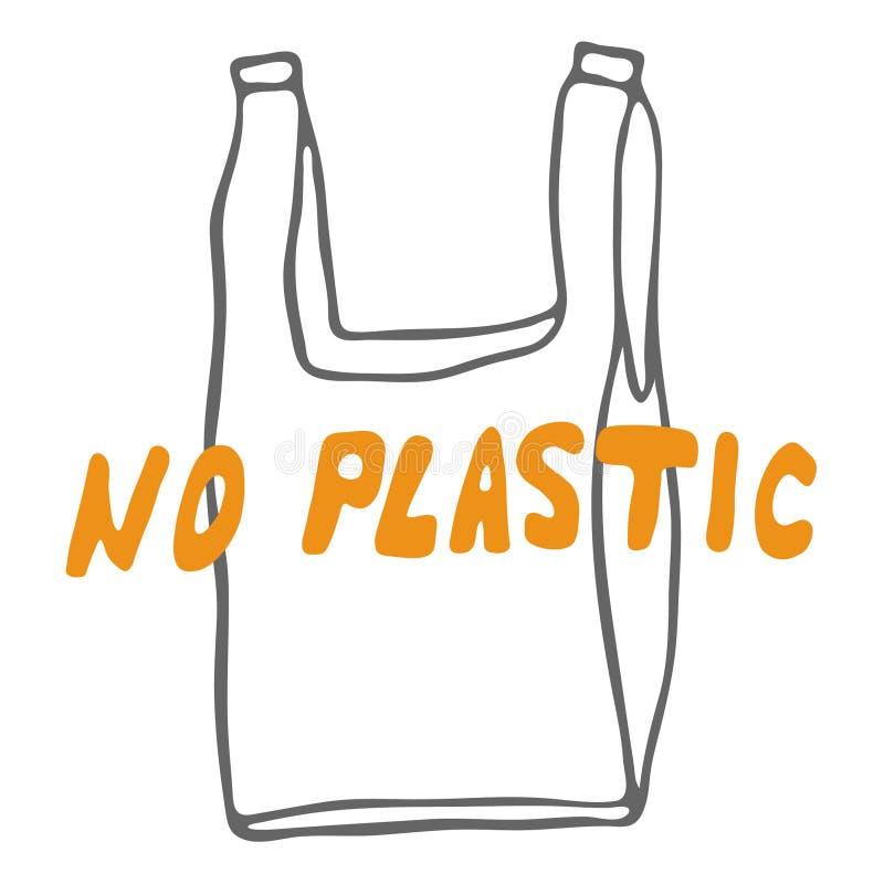 Отсутствие пластиковой литерности бесплатная иллюстрация