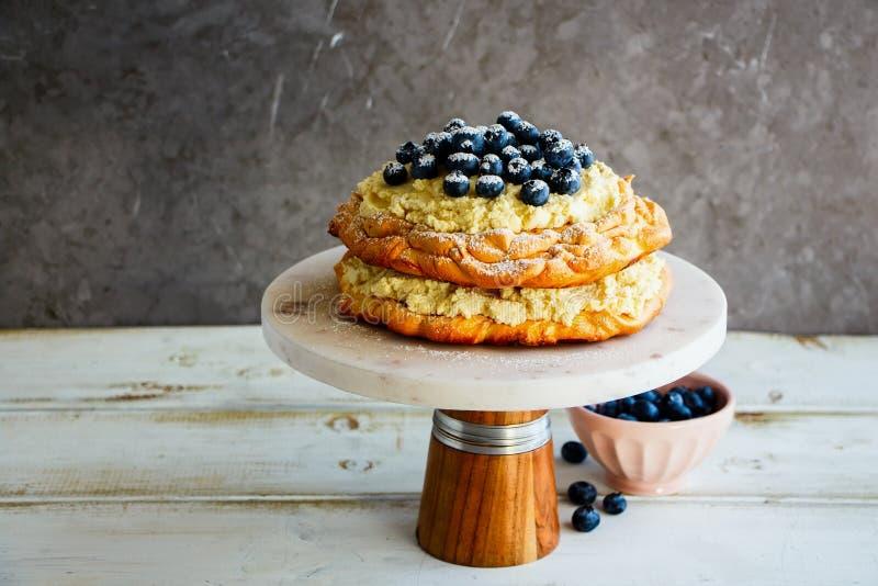 Очень вкусный торт Pavlova стоковое фото
