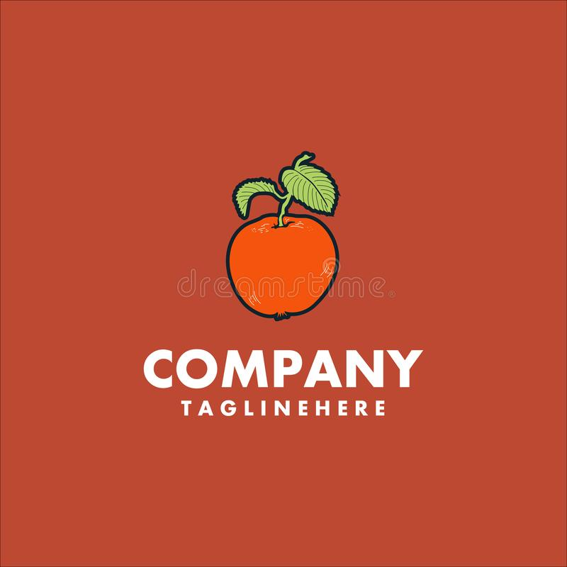 Оранжевая идея проекта логотипа плода бесплатная иллюстрация