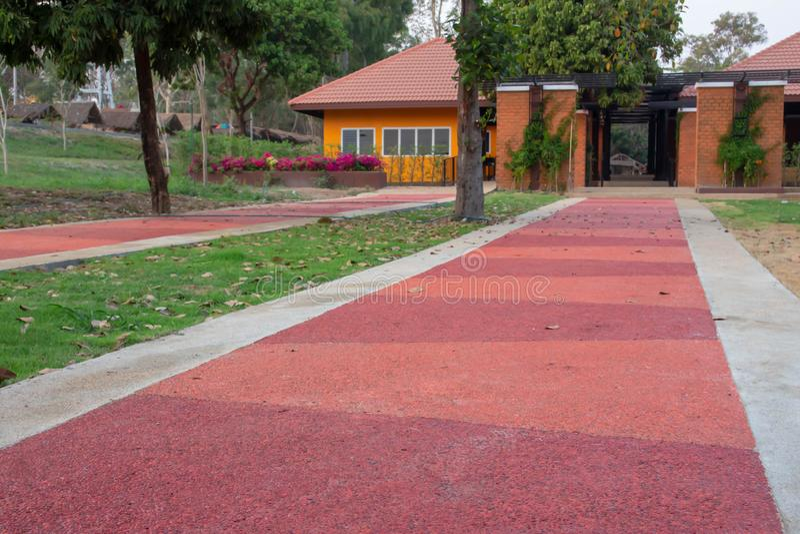 Оранжевая дорога цемента стоковые изображения rf