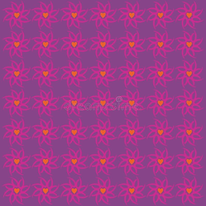 Орнаментируйте пурпур предпосылки картины любов иллюстрация штока