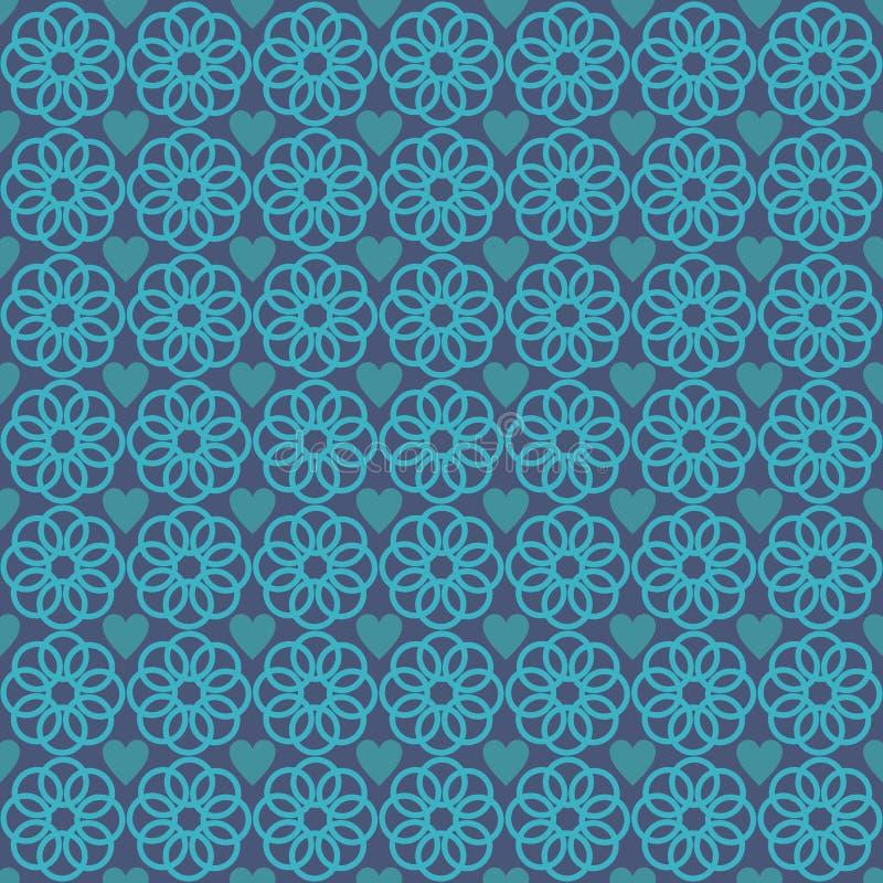 Орнаментируйте синь предпосылки картины любов бесплатная иллюстрация