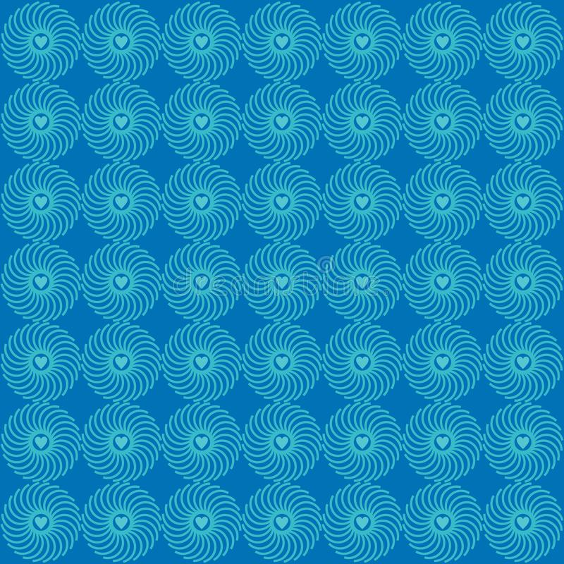 Орнаментируйте синь предпосылки картины любов иллюстрация вектора