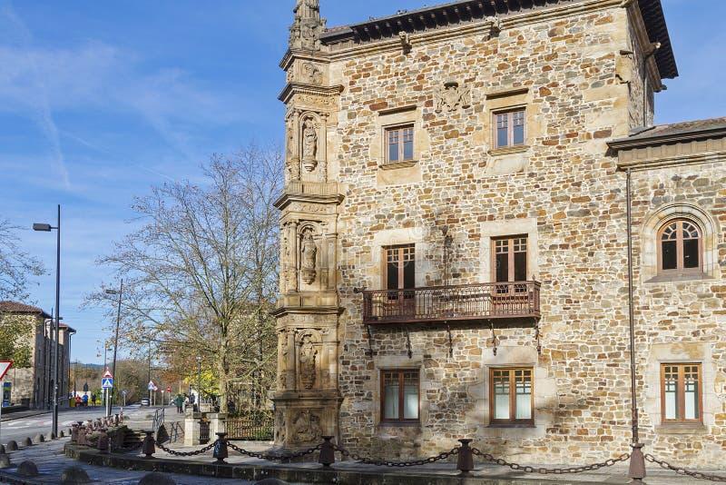 Oñati basque village. Oñati village in Gipuzkoa, Basque Country royalty free stock photo