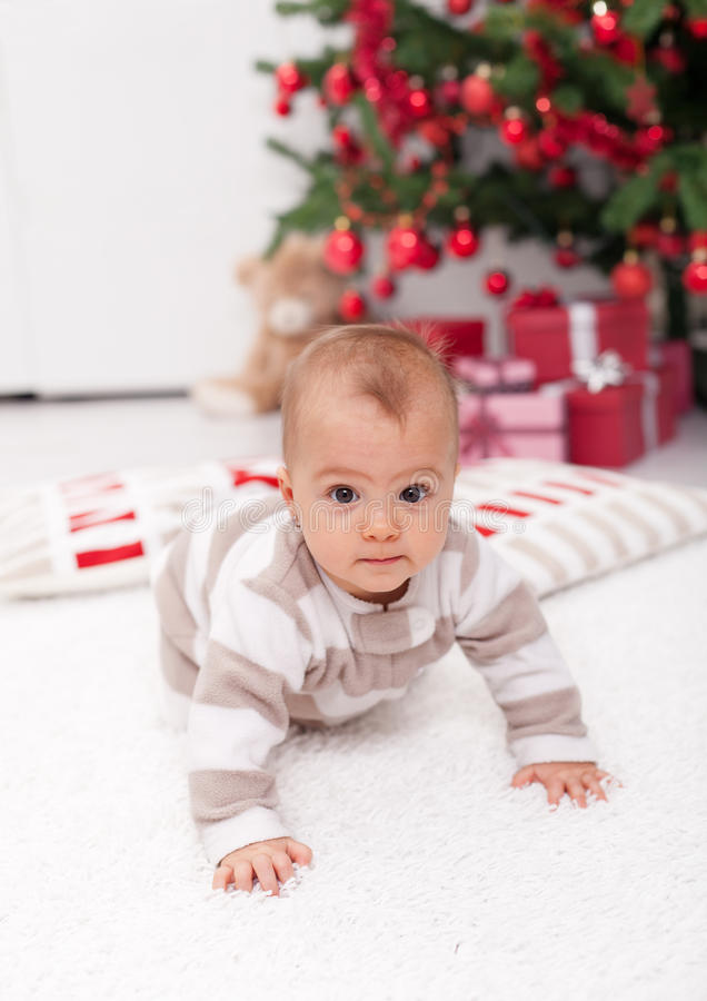 Où est l'arbre de Noël maman ? image stock