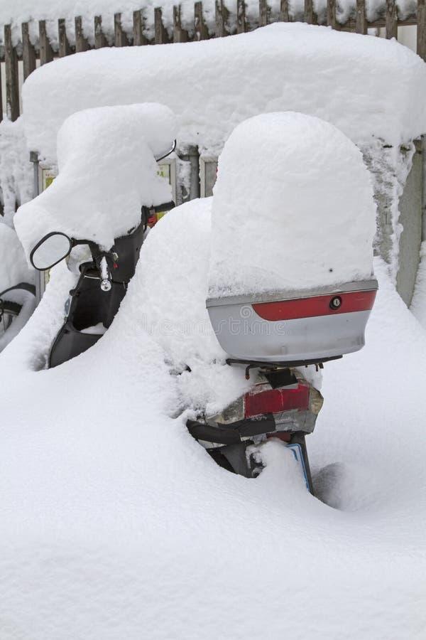 Où est mon scooter photographie stock libre de droits
