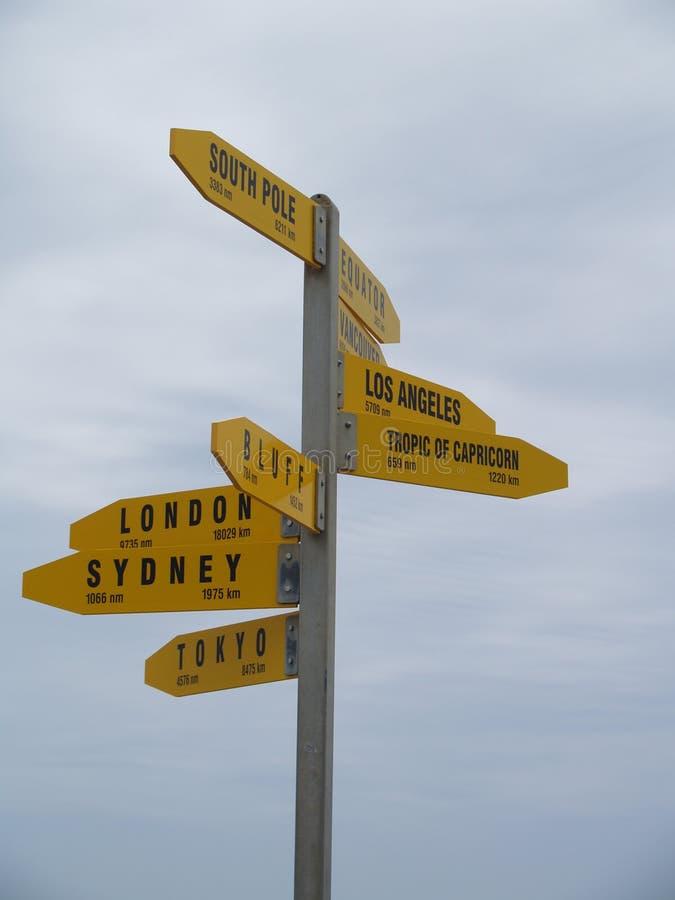 Où voyager à après image libre de droits