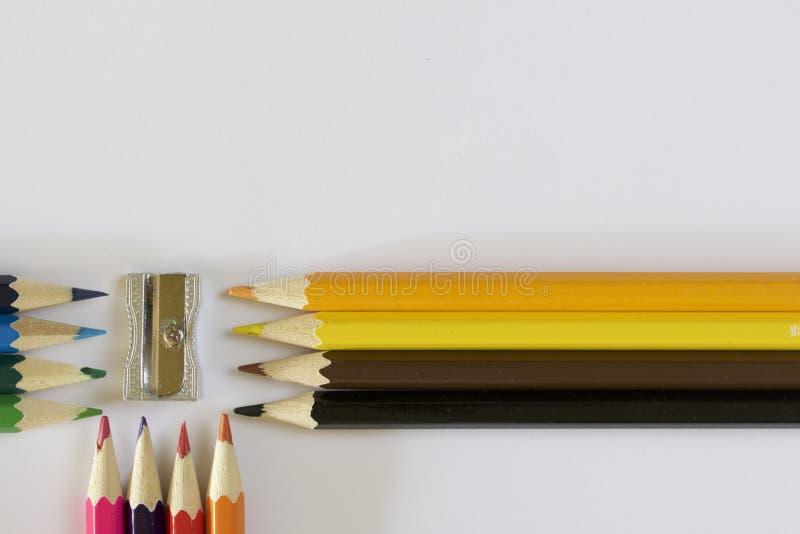 ołówek barwiona ostrzarka obraz stock
