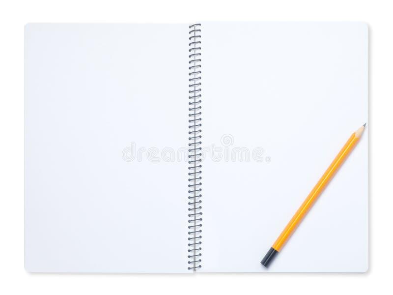 Ołówek i notatnik obrazy stock