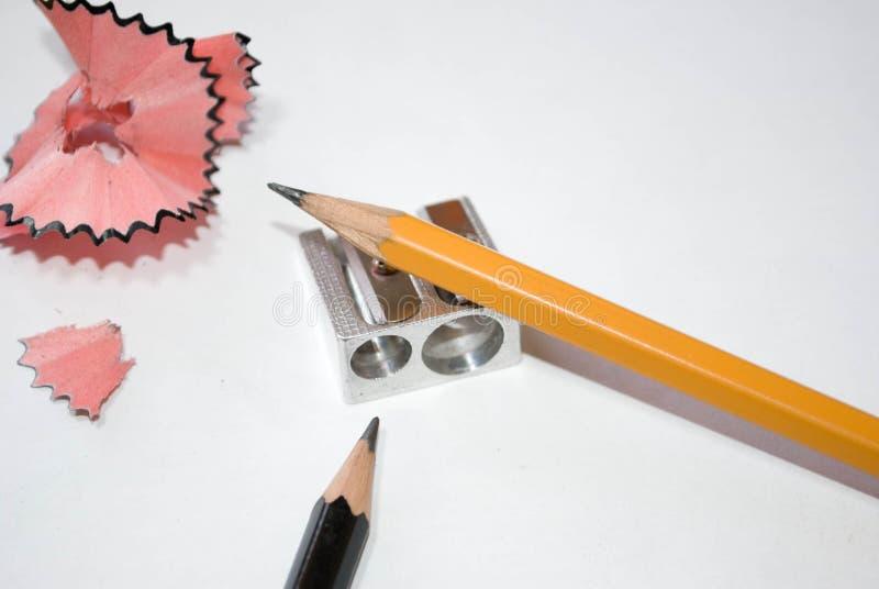 Ołówek i ostrzarka obraz stock