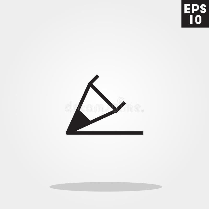Ołówek pisze ikonie w modnym mieszkanie stylu odizolowywającym na popielatym tle Ołówek pisze symbolu dla twój projekta, logo, UI royalty ilustracja