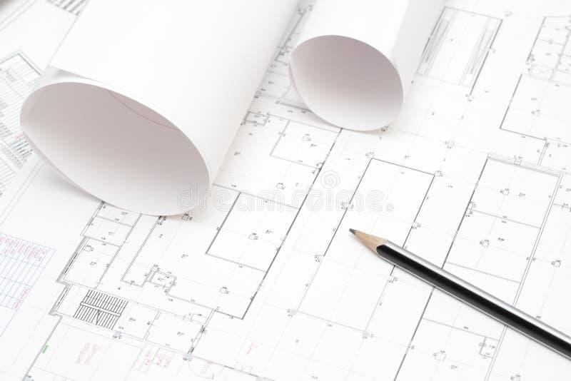 ołówek projektu walcowane fotografia stock