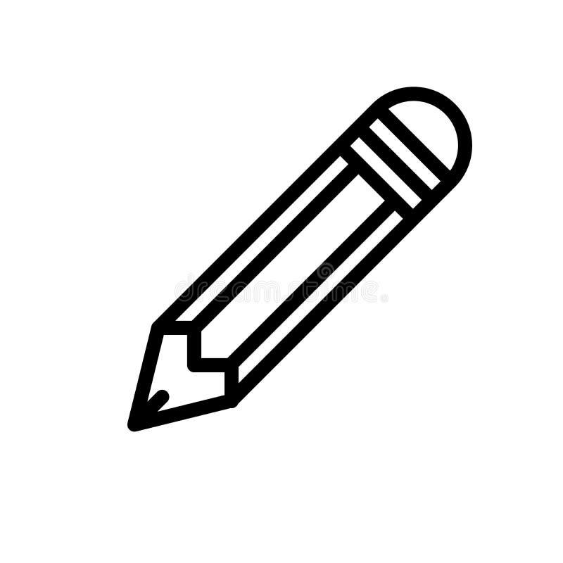 Ołówek redaguje piksel doskonalić ikonę ilustracji