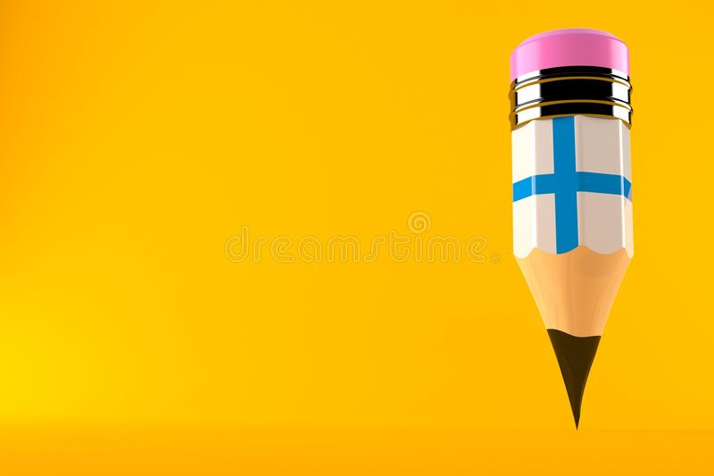 Ołówek z finnish flaga royalty ilustracja