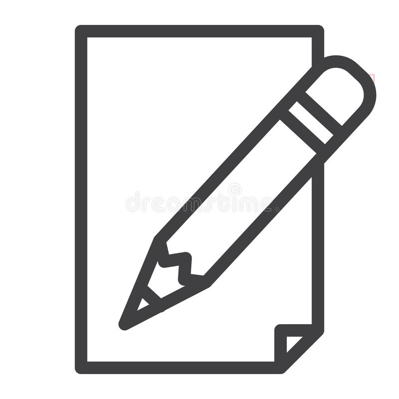 Ołówek z papier linii ikoną ilustracji