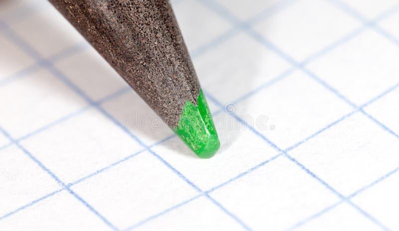 ołówek zielonej księgi, Makro- fotografia royalty free